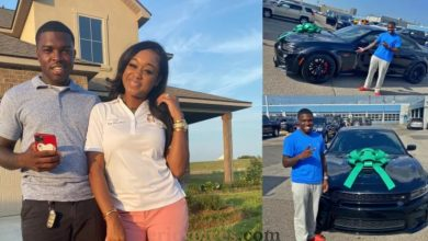 Photo of Lady buys her husband an expensive car